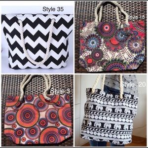 Other - Assorted Large Beach Bags Summer Rope Handle Tote